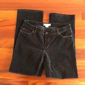 Michael Kors Black woman's corduroy pants. Size 10